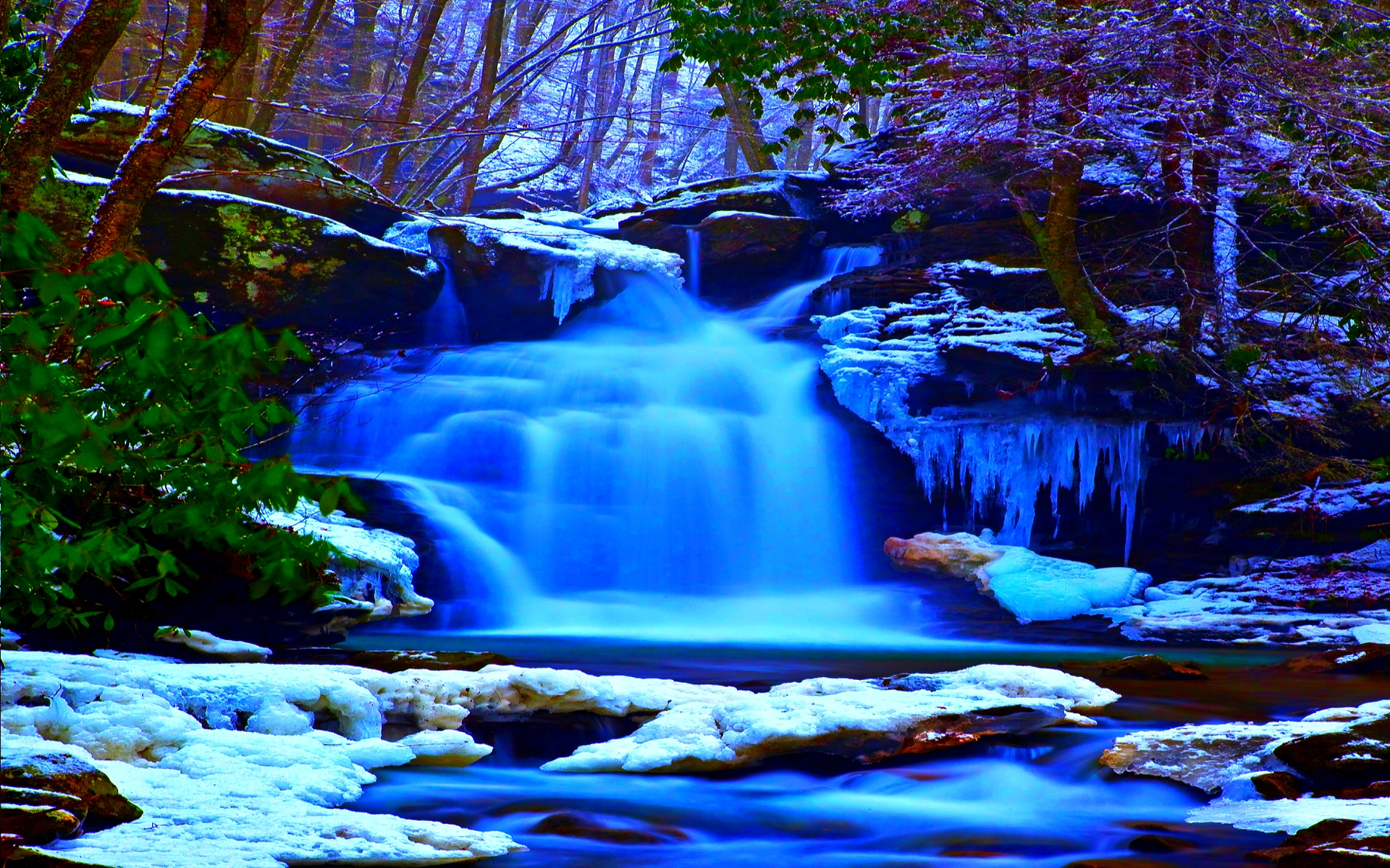 cascadas de invierno wallpaper   ForWallpapercom 1920x1200