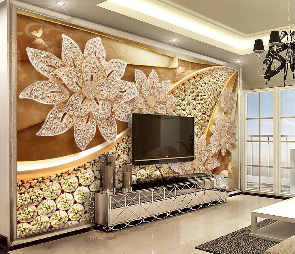 Custom Retail 3D Luxury Diamond Jewelry Flowers Illustration 1024x881