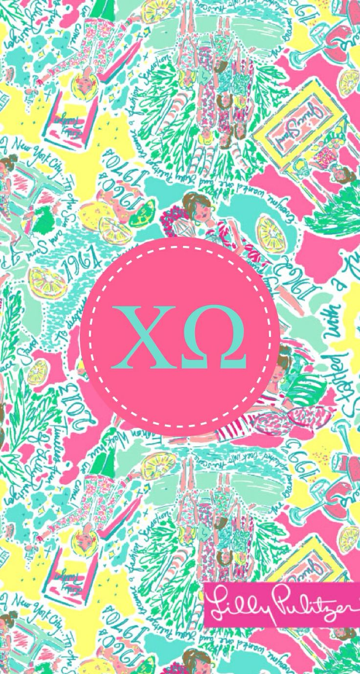 Lilly and chi O iphone backgrounds by Liana Louie using monogram app 736x1377