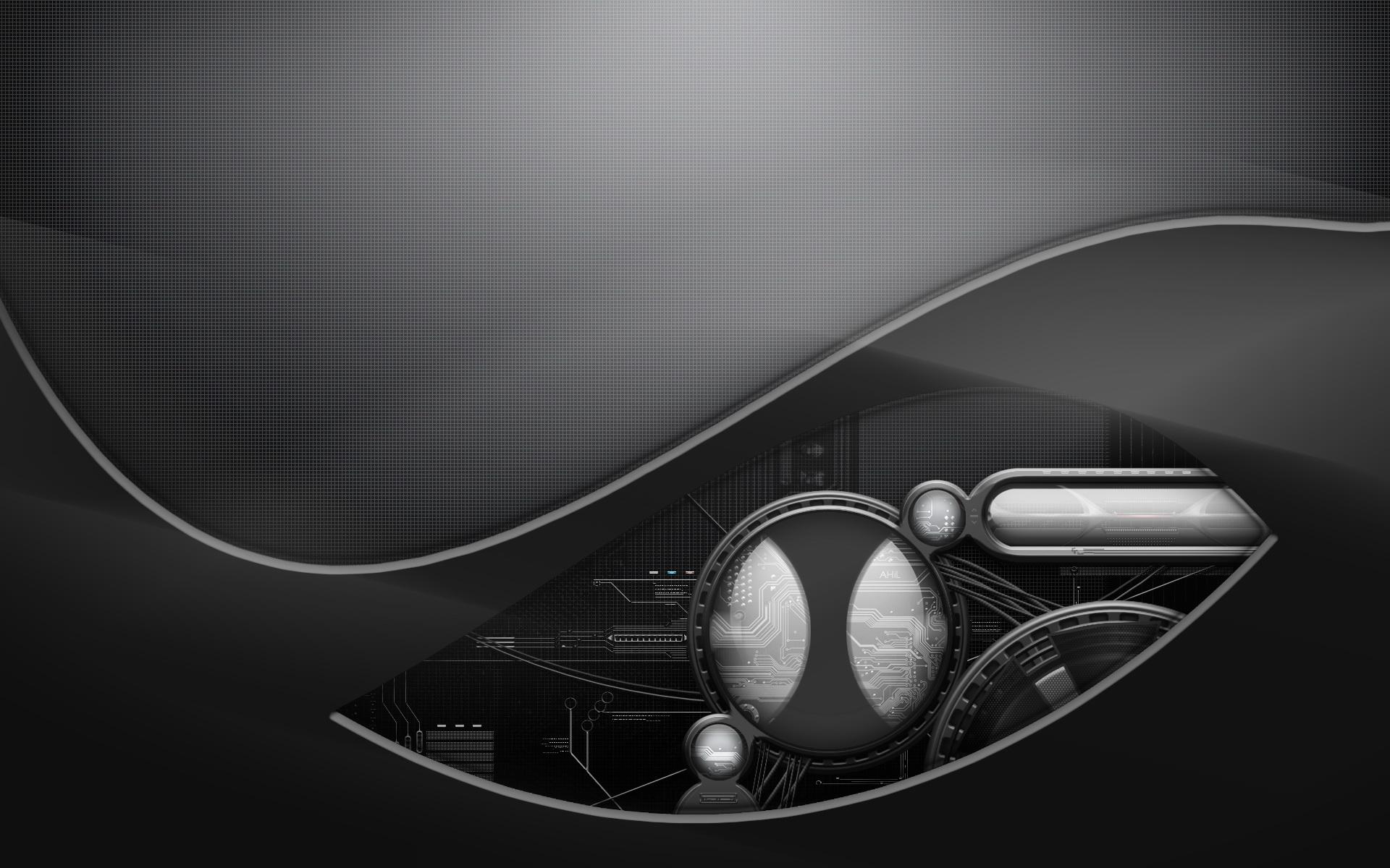 Theme Bin Blog Archive Future Black Abstract HD Wallpaper 1920x1200