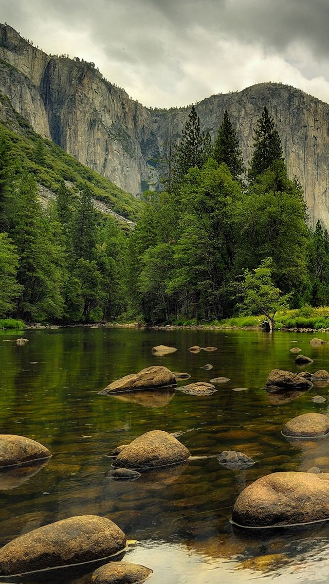 Beautiful Nature Mountains Water rocks trees Beautiful 640x1136