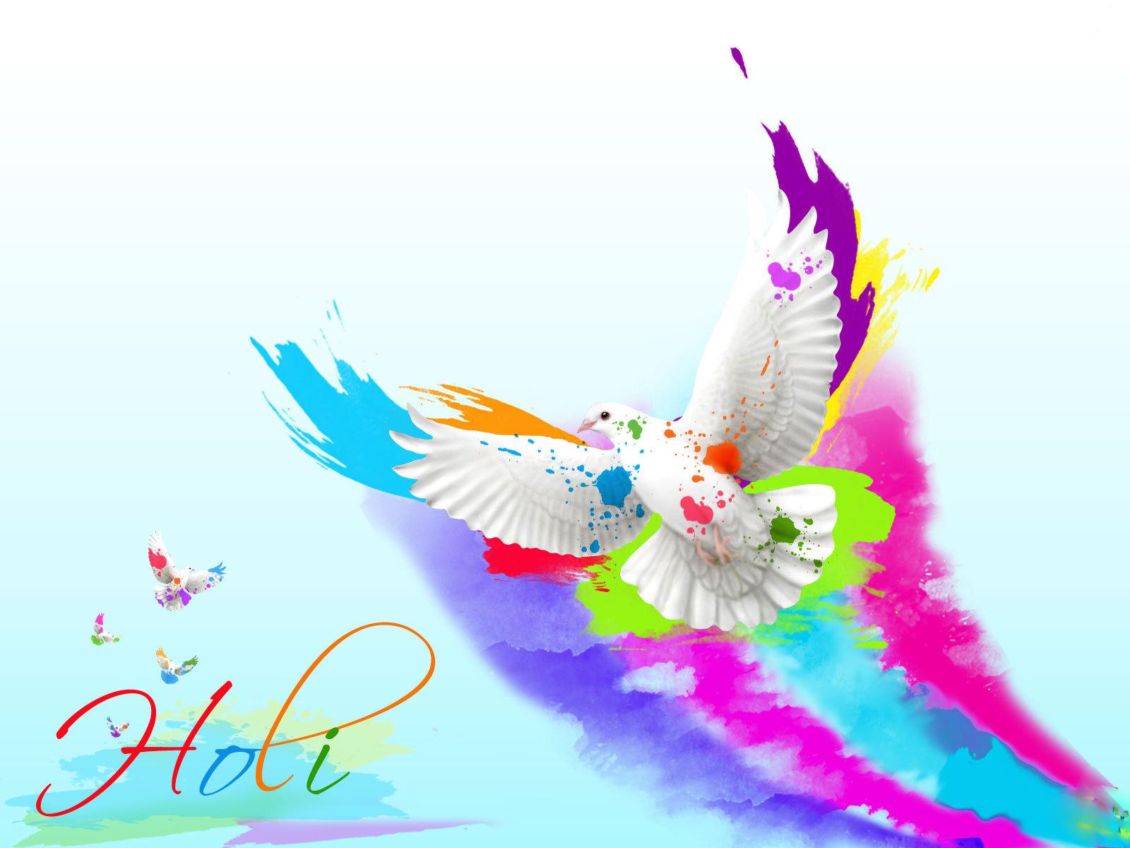 Happy Holi Widescreen HD Wallpaper 16001200 1600x1200