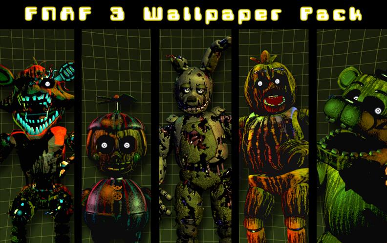 FNAF 3 Wallpaper Pack by xquietlittleartistx 792x497