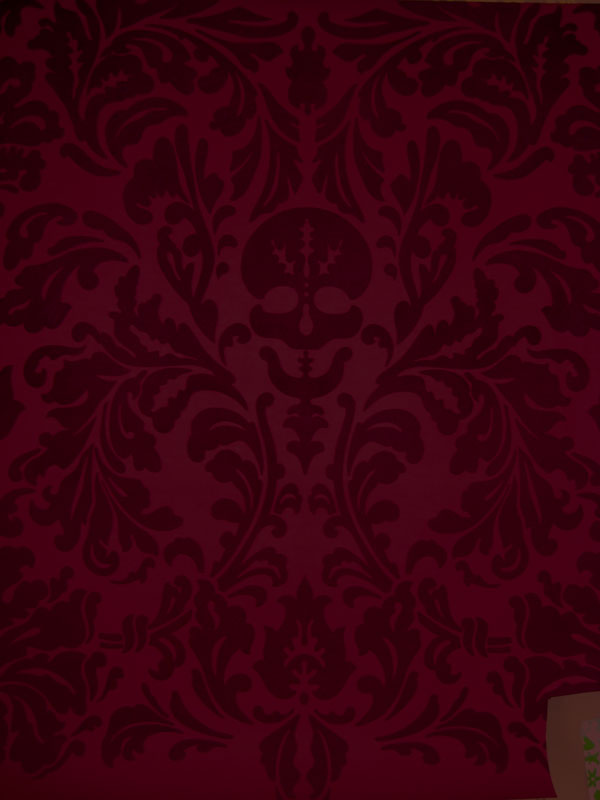 Senor Skullingwell   Flock Velvet   Burgundy Red Raisin [WPS 56600 600x800