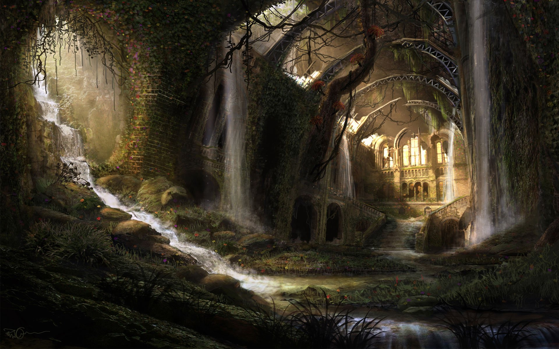 Download Fantasy Pixel Widescreen Medieval Large Dark Wallpaper 1920x1200