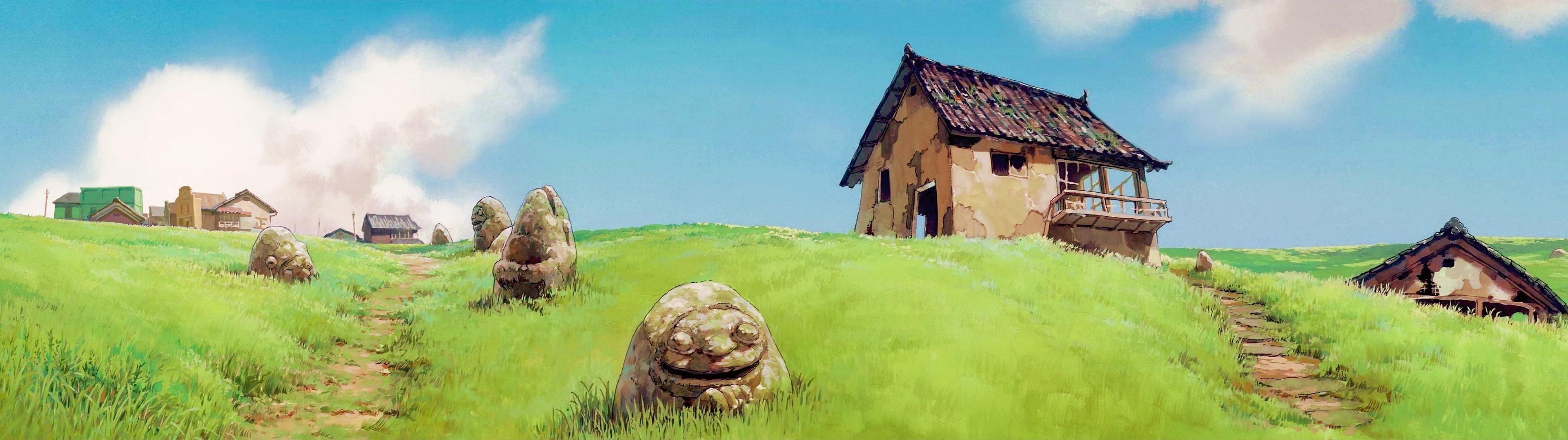 66 Studio Ghibli Wallpapers on WallpaperPlay 3840x1080