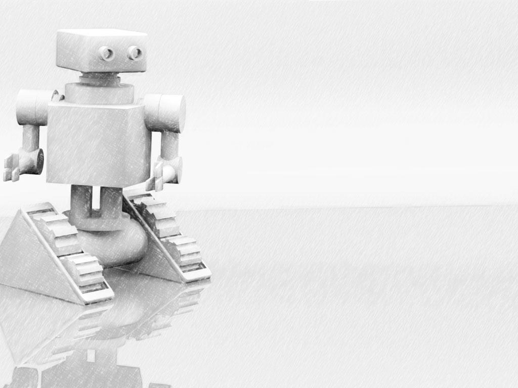 Grey Robot Presentation Slide Presentation slides Slide 1024x768