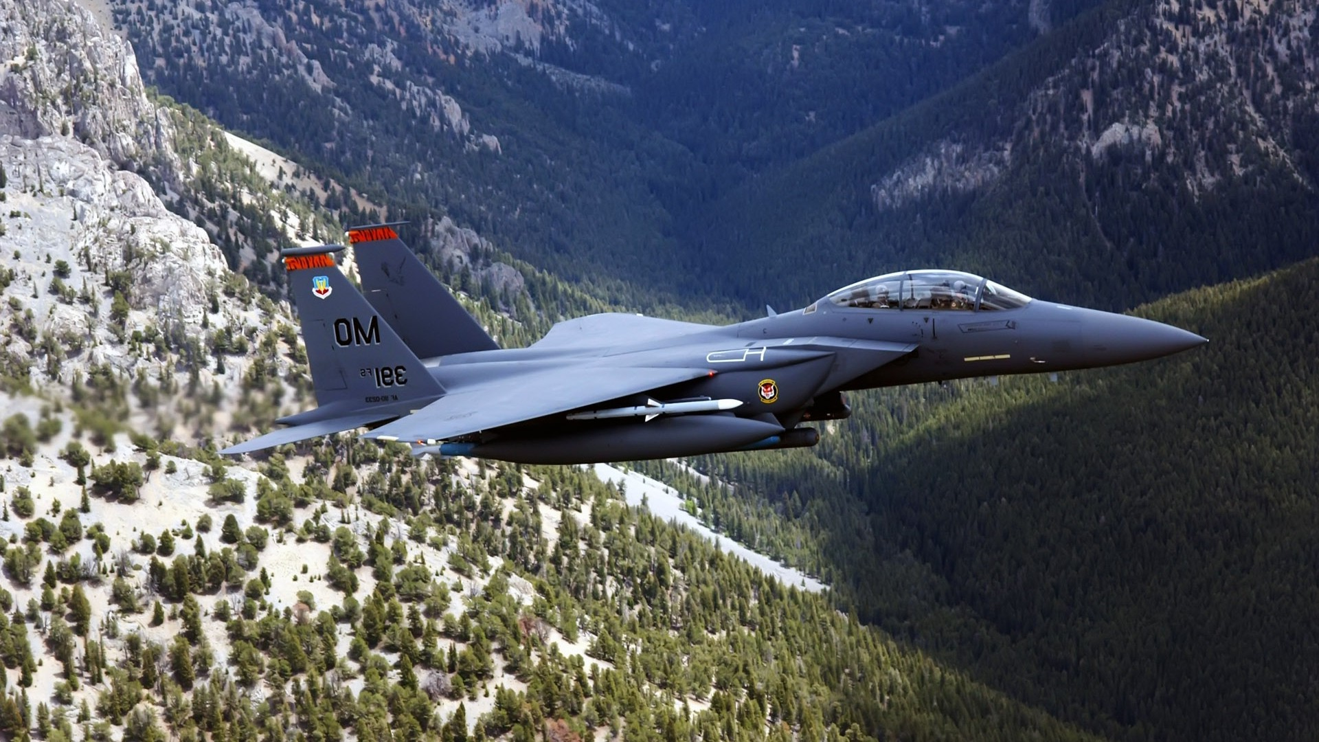 military Aircraft Airplane Jets F15 E US Air Force Wallpapers 1920x1080