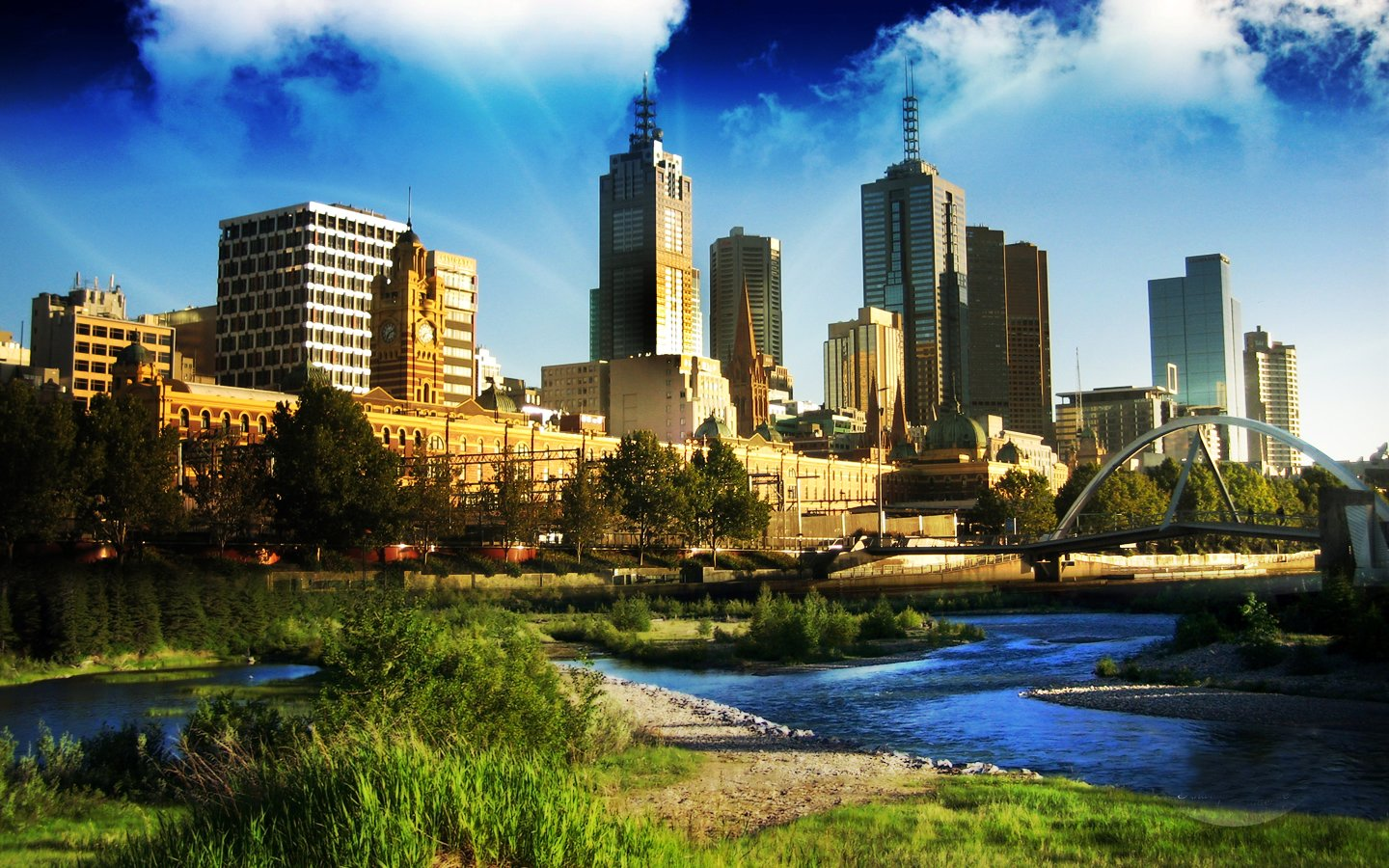 Melbourne HD City Wallpapers Points HD Wallpaper 1440x900