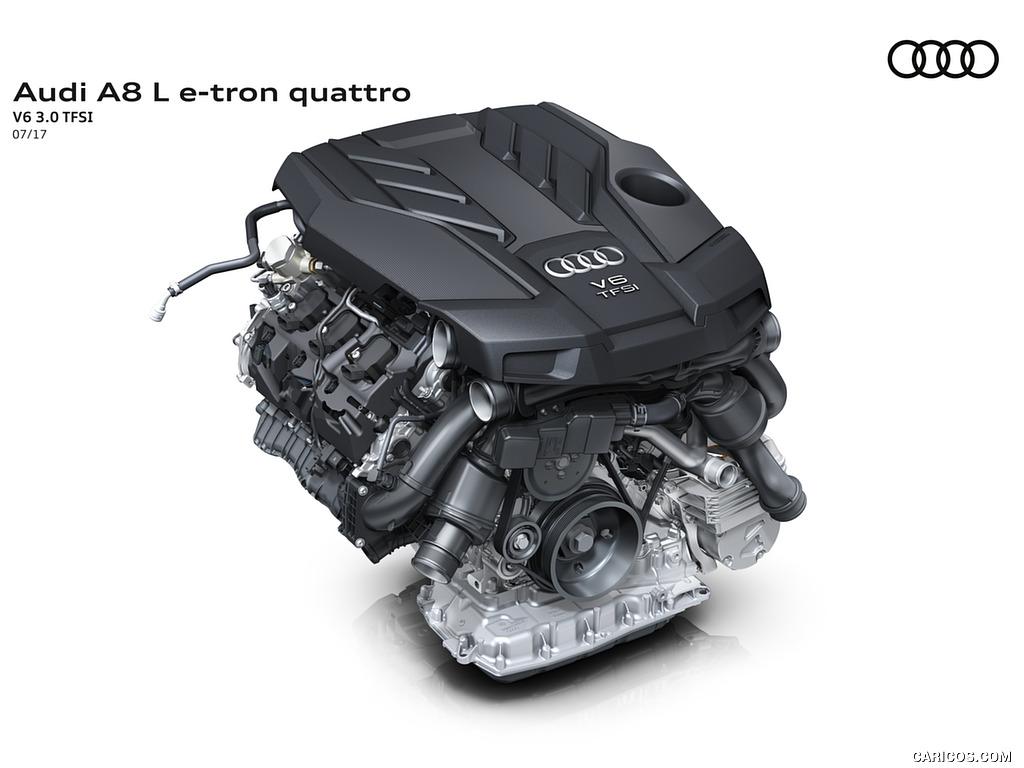 2018 Audi A8 L e tron   V6 30 TFSI Engine HD Wallpaper 53 1024x768