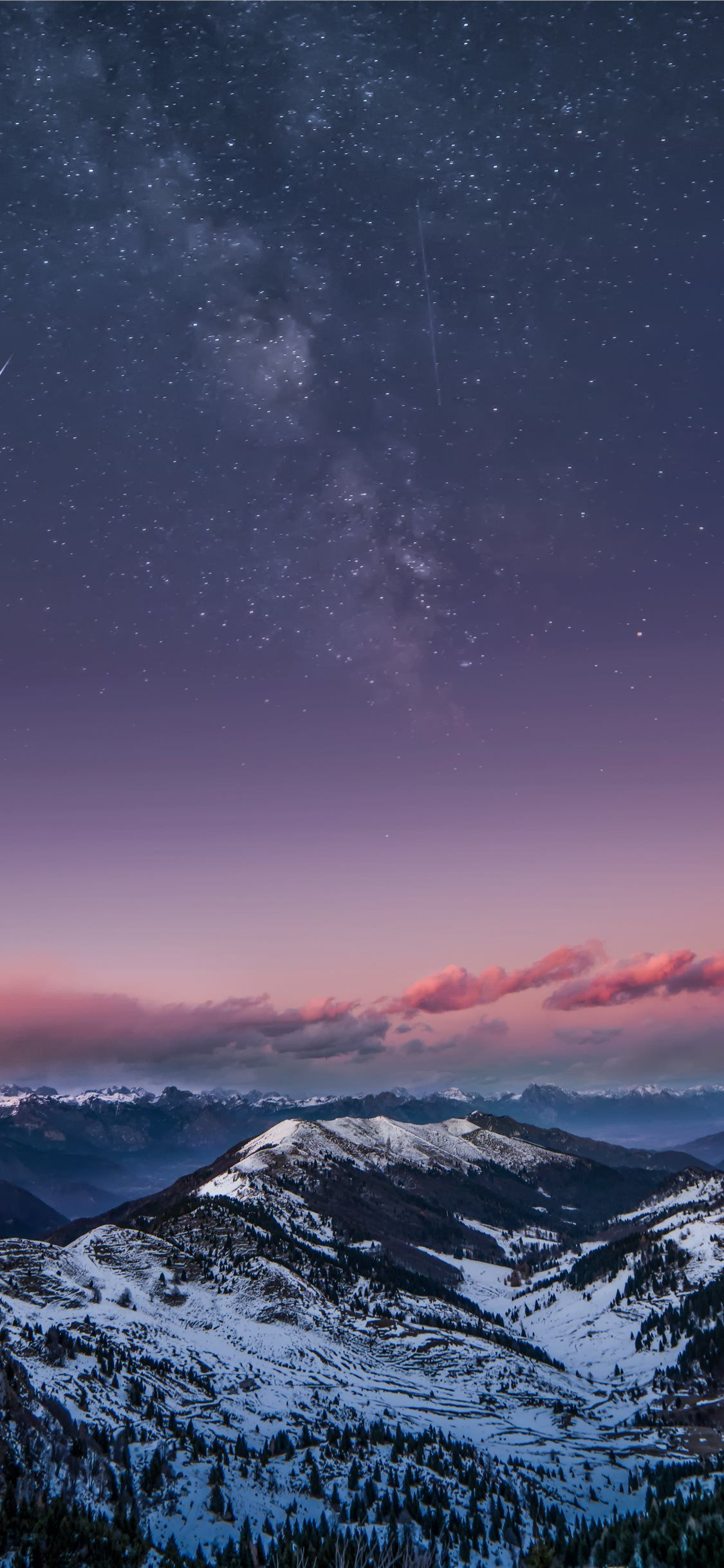 Mountain Milky Way iPhone X Wallpapers Iphone wallpaper 1125x2436