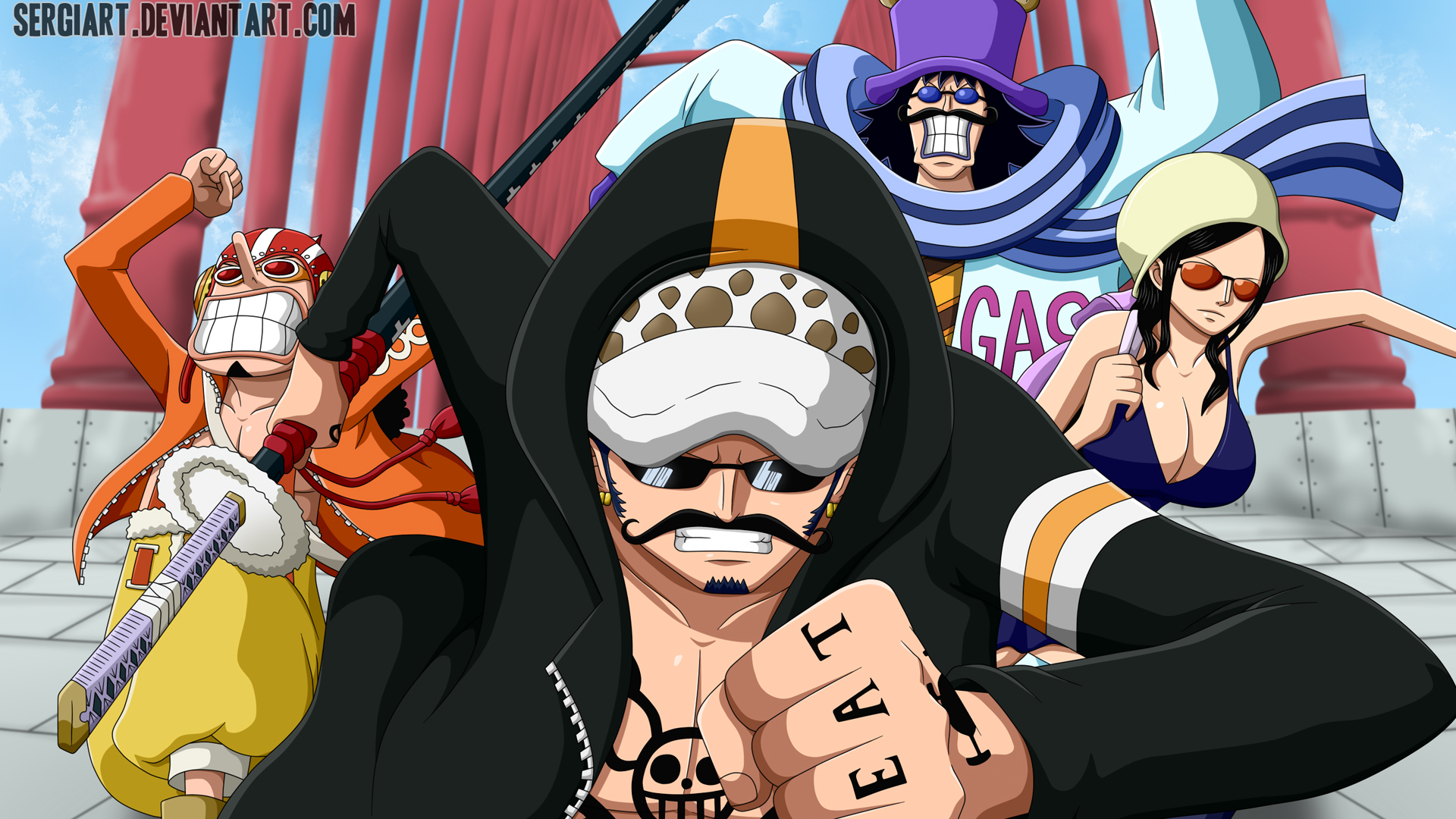 Free Download Law Usopp Nico Robin And Caesar Clown One Piece Anime Hd Wallpaper 1920x1080 For Your Desktop Mobile Tablet Explore 50 Nico Robin Iphone Wallpaper Nico Robin Iphone If you like this one piece wallpaper iphone hd collection. one piece anime hd wallpaper 1920x1080