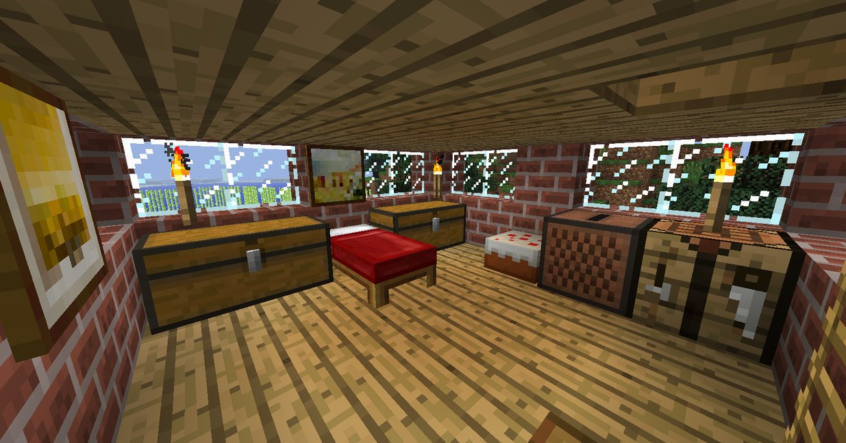 Minecraft Bedroom 2nd floor by Ceej95 1235x647