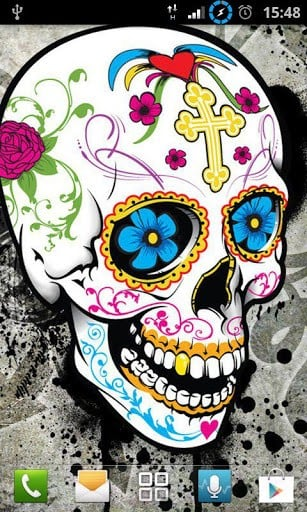 Girly Skull Wallpapers for Android by daglycat   Appszoom 307x512