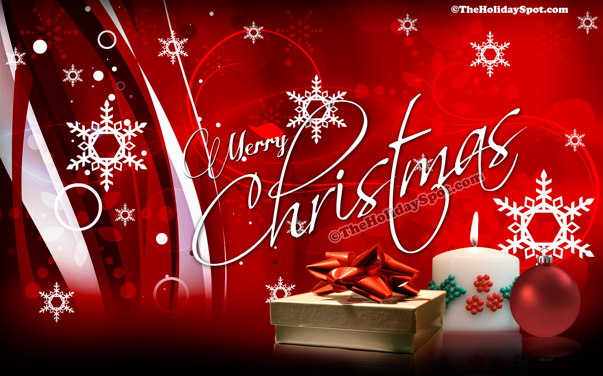 HD desktop illustration of Christmas 1920x1200