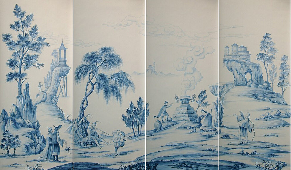 Free Download Yrmural Hand Painted Wallpaperchinoiserie