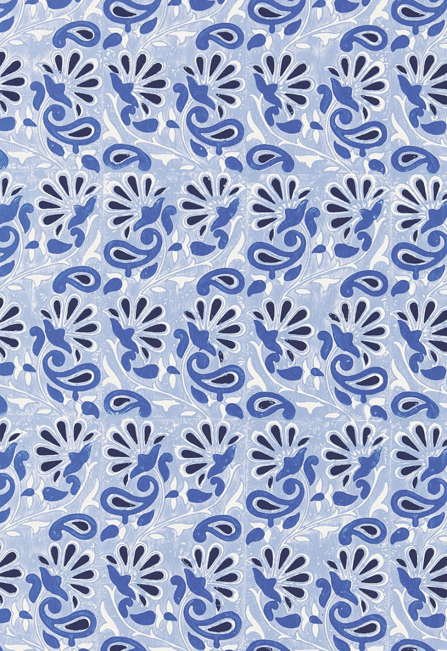 Schumacher Rampura Wallpaper Delft 880x1280