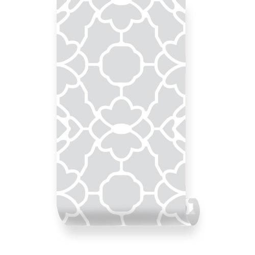 Large Trellis Pattern Grey Removable Wallpaper   Peel Stick 500x500