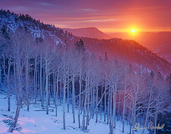 Mountain National Park Colorado aspen winter sunrise mountains 600x471