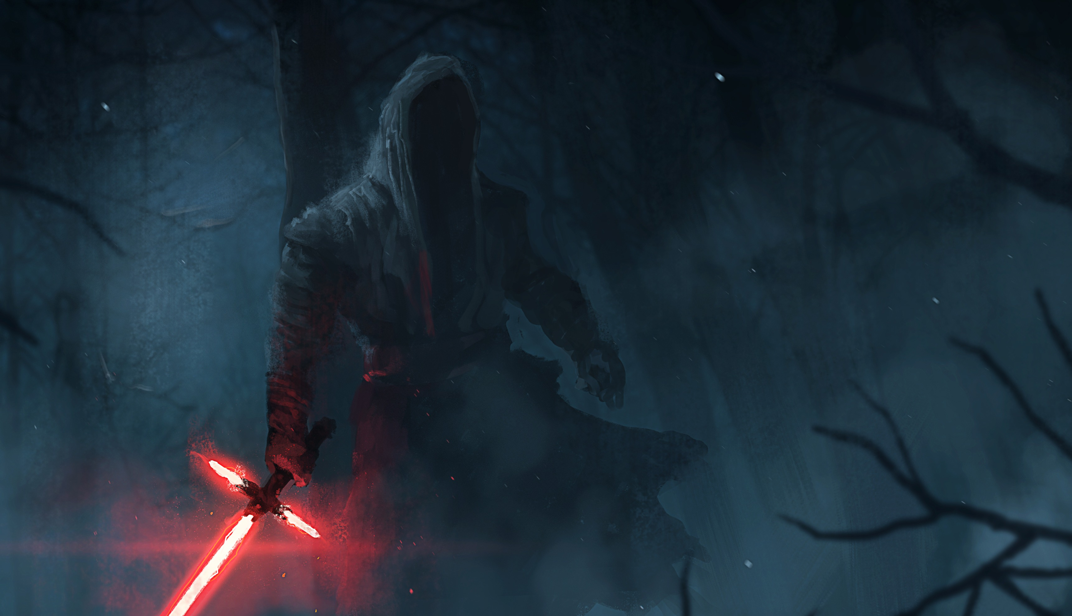 Star Wars The Force Awakens Kylo Ren Lightsaber Wallpaper