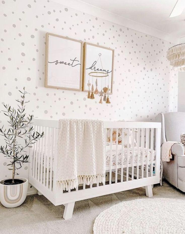 Trendy Nursery Wallpaper Ideas   DIY Darlin Nursery room design 735x926