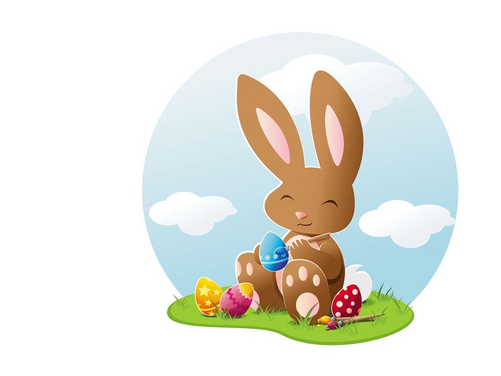 happy easter 2014 bunny greeting vectors eggs pictures bunny 1024x768