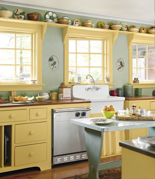 Farmhouse Chic The kitchen gets its warmth from cherry counters an 500x575