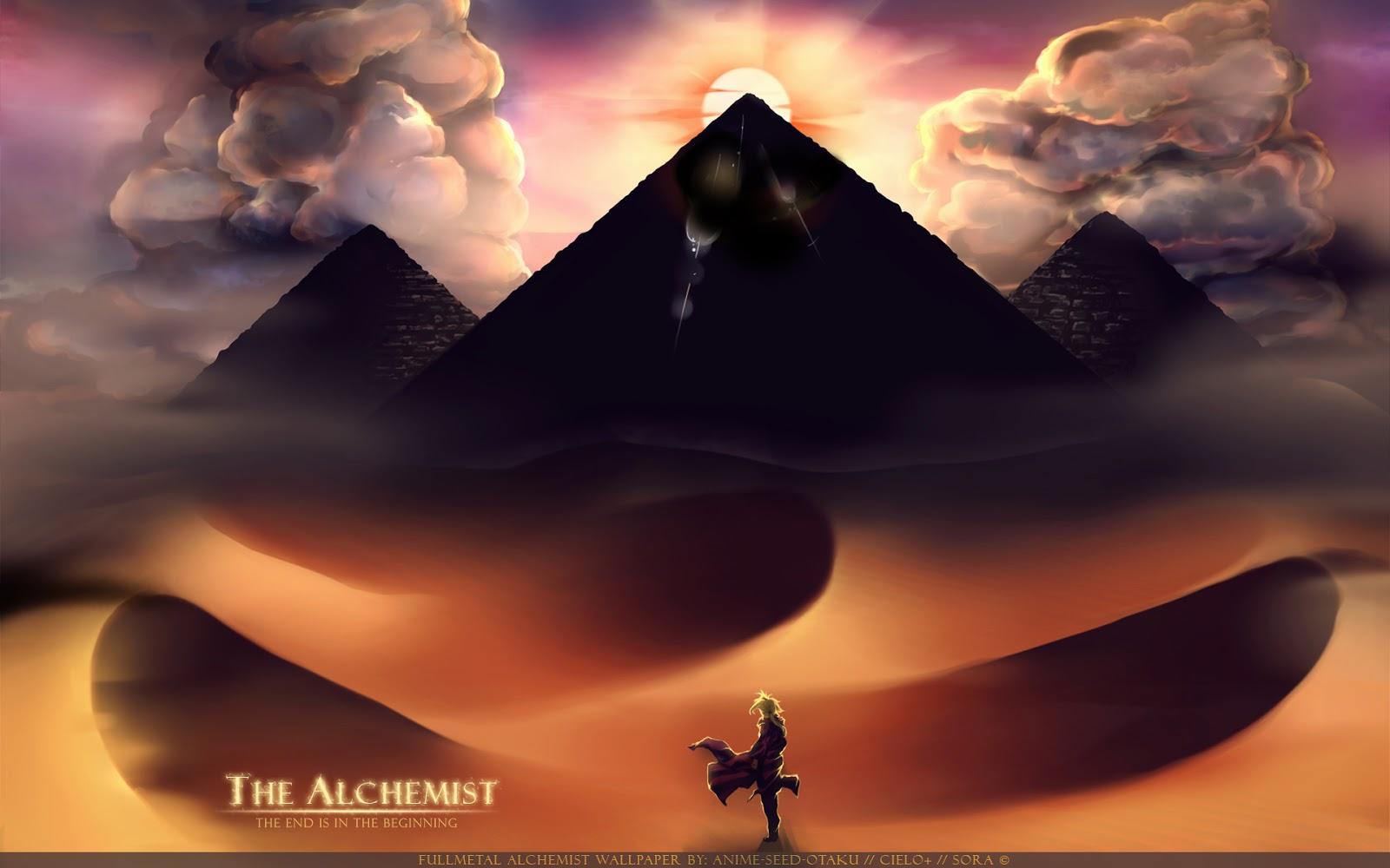 Edward Elric Fullmetal Alchemist Anime Pyramid Sand HD Wallpaper 1600x1000