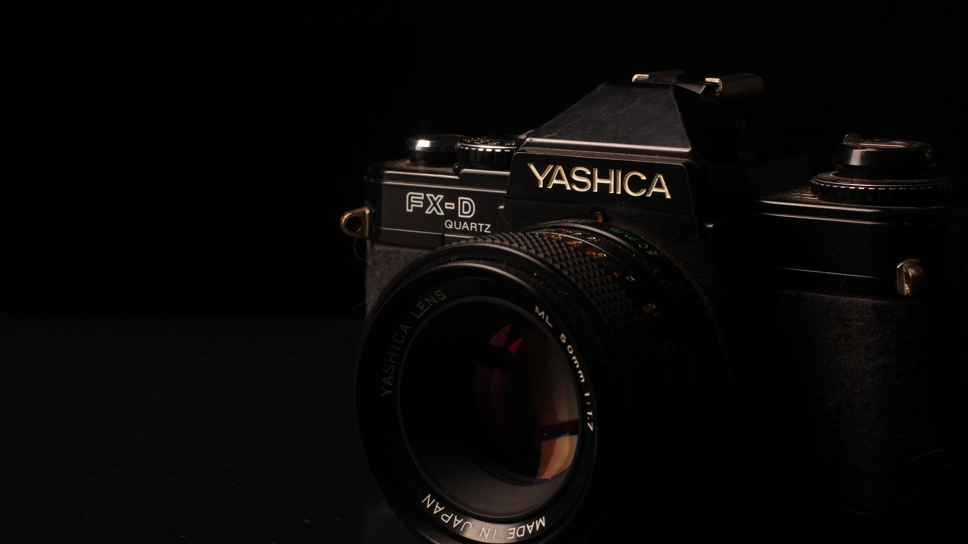 Yashica FX D Camera Dark Wallpaper   Wallpaper Stream 1920x1080