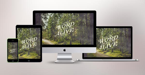 The Word of God is Alive   Wallpaper Download   Pocket Fuel 600x313