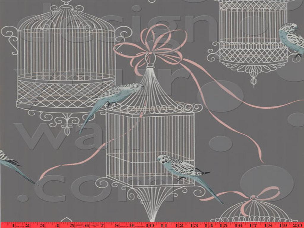 Bird Parakeet Cage Vintage Pixel Wallpaper 1024x768