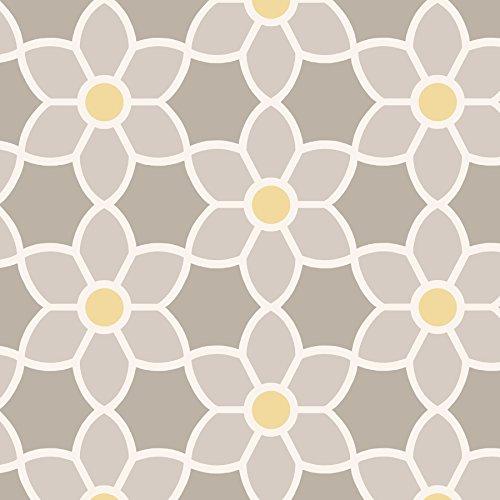 2535 20605 Blossom Geometric Floral Wallpaper Grey Awardpediacom 500x500