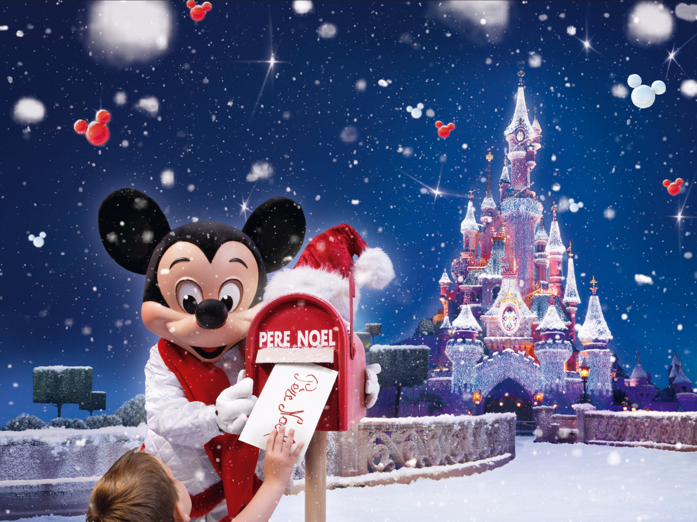 Christmas And Mickey Mouse Desktop Wallpaper 1400x1050
