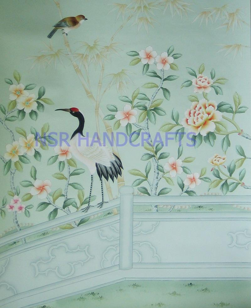 silk wallpaper hand painted wallpaper chinoiserie wallpaper chinese 800x980