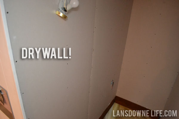 Stairway update Drywall and ugly plaster   Lansdowne Life 600x400