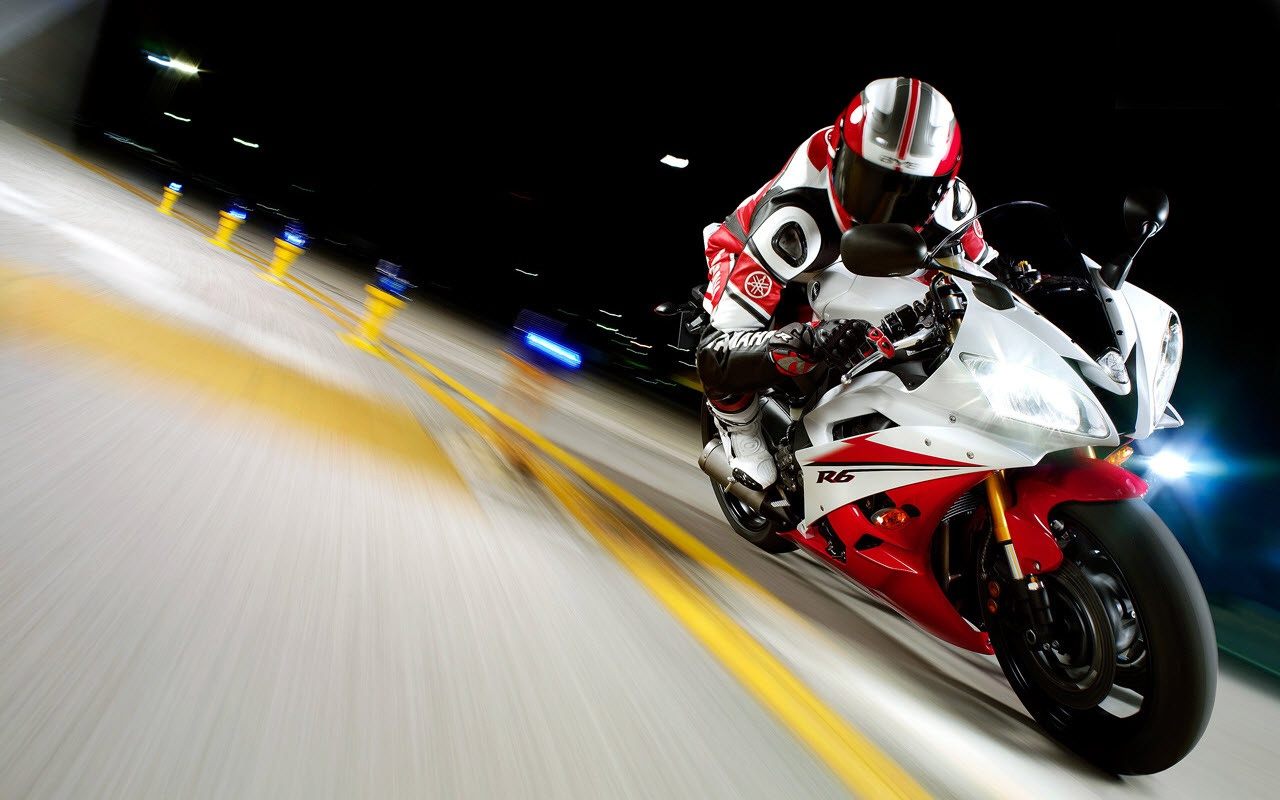Motorcycle Race Yamaha Yzf R6 Racing Backgrounds For PowerPoint 1280x800
