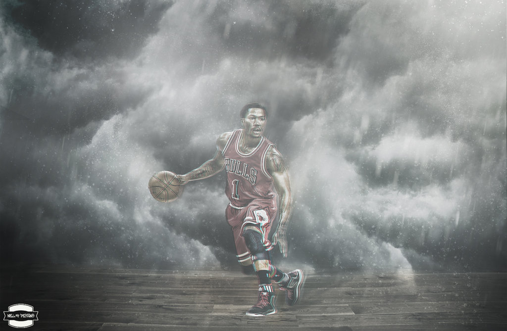 Derrick Rose Wallpaper by NewtDesigns 1024x669