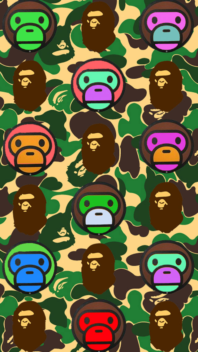 iPhone 5 wallpapers HD   Bape Backgrounds 640x1136
