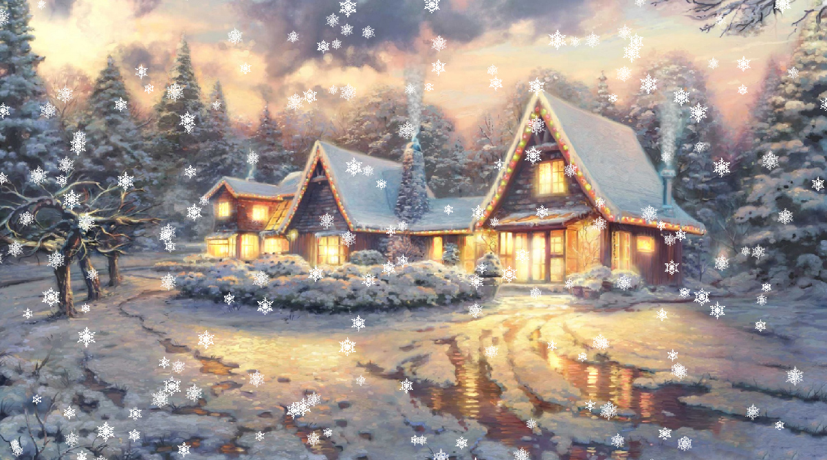 Animated christmas wallpaper with music wallpapersafari - Anime merry christmas wallpaper ...
