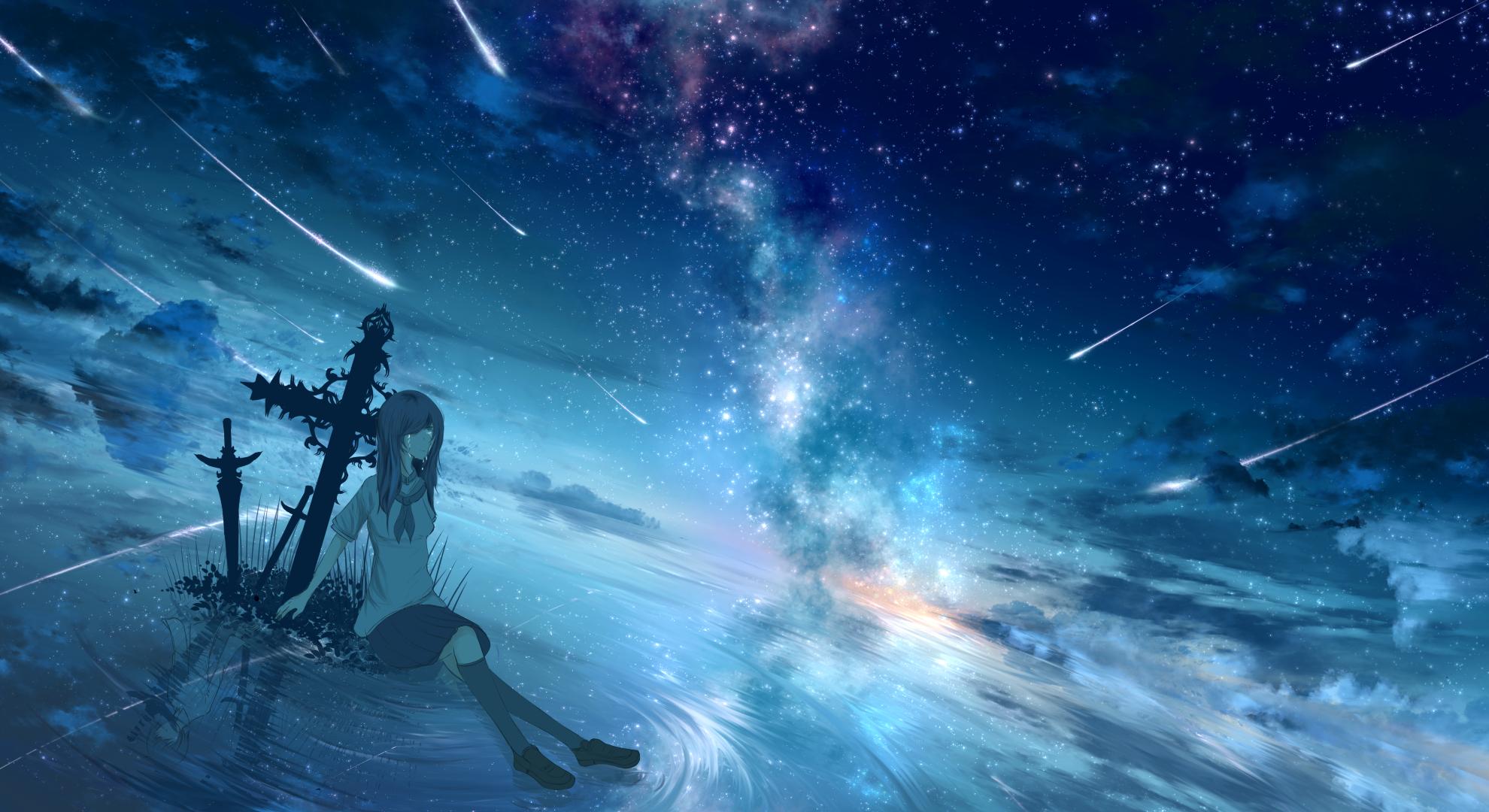 Girl Starry Sky Wallpaper   Resolution1980x1080   ID1057937 1980x1080