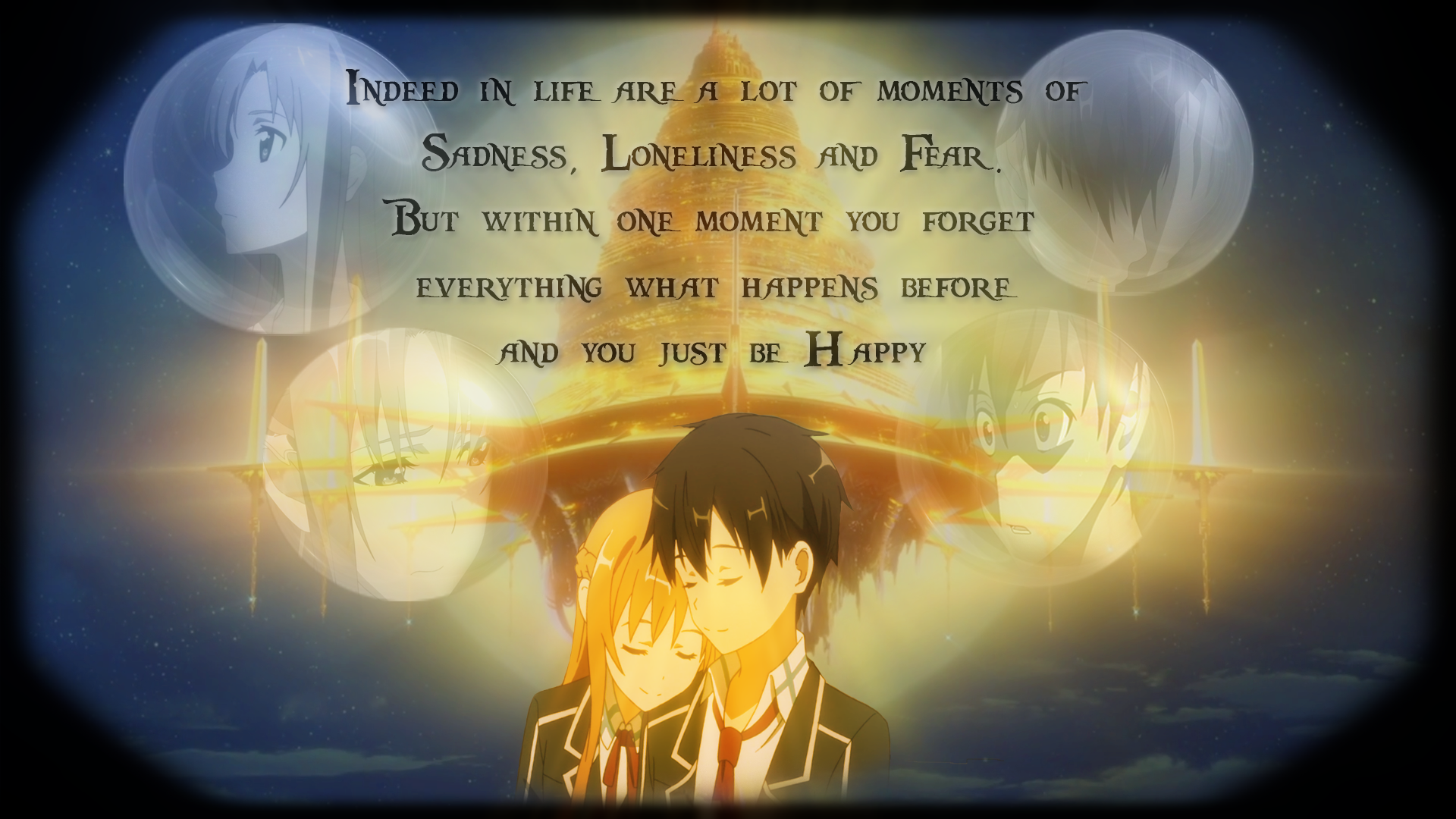 Someday youll just be Happy   SAO Wallpaper by Bixes 1920x1080