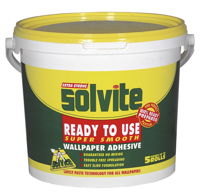 Solvite Ready To Use Wallpaper Paste Up to 5 Rolls customer 800x759