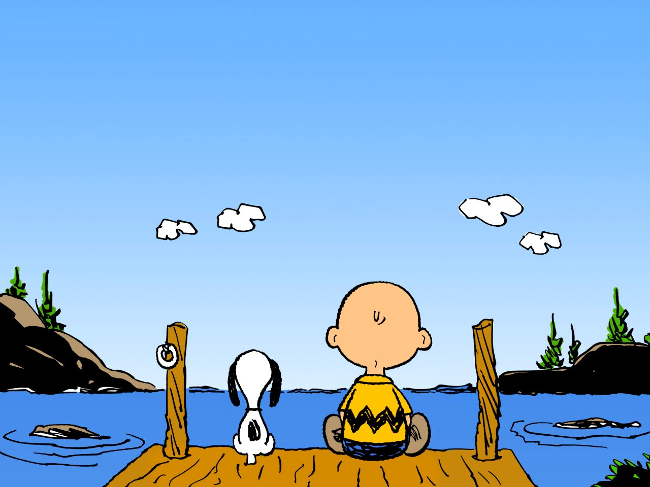 41+] Snoopy and Charlie Brown Wallpaper