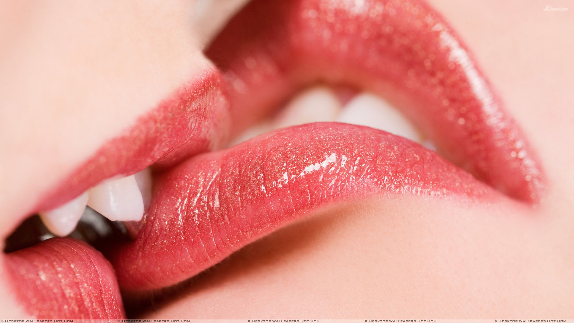 Kissing Glossy Red Lips Closeup   Kissing Lips To Lips 439891 1920x1080