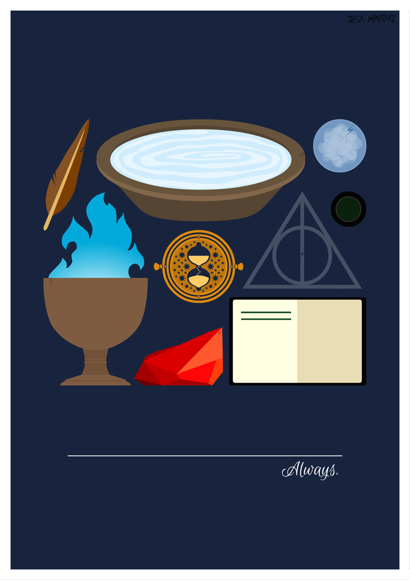 jecamartinezAlwaysMinimalist Harry Potter posterBecause I dont 800x1131