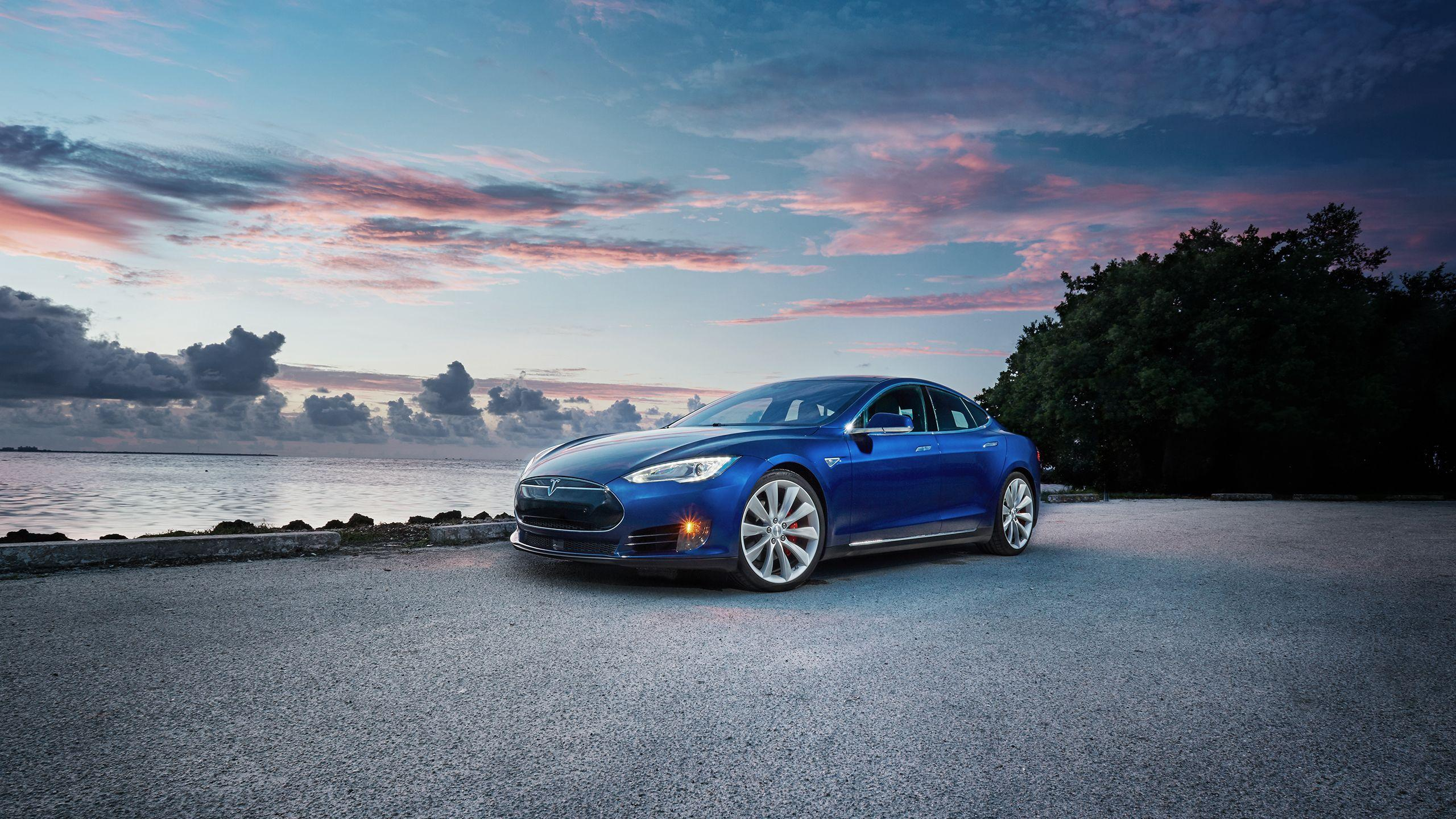 Blue Tesla Wallpapers 2560x1440