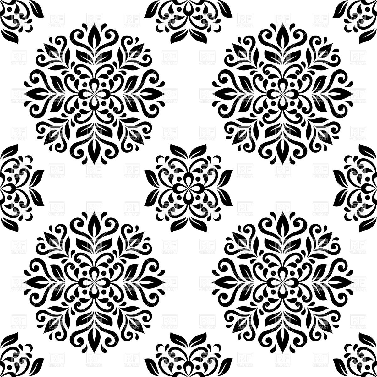 Black and white mandala seamless wallpaper Backgrounds Textures 1200x1200