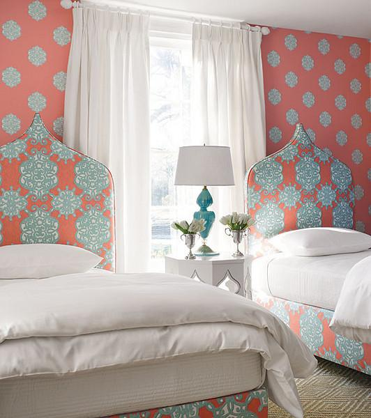 Thibaut Wallpaper   Transitional   bedroom   Thibaut Design 532x600