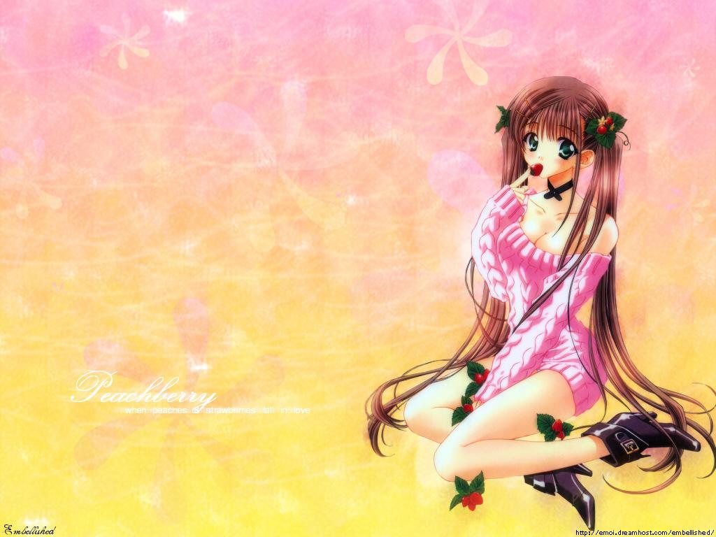 Cute Anime Girl Wallpaper Wallpaper Cartoon 1024x768