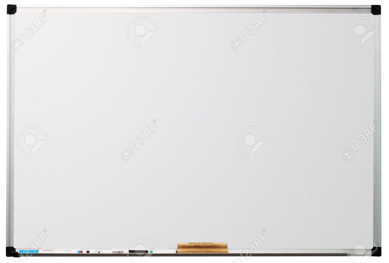 Modern Whiteboard Isolated On White Background With Space For 1300x880